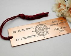 Personalized cursive letter copper, brass or German silver bookmark, monogram, metal bookmark Valentines Day Gifts For Him Boyfriends, Boyfriend Gifts, Valentine Day Gifts, Felt Bookmark, Bookmark Template, Cursive Letters, How To Make Bookmarks, Jewelry Polishing Cloth, Travel Themes