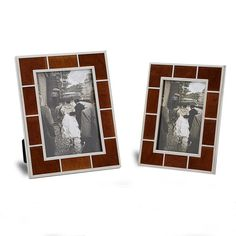 Yakri Desktop Free Standing PU Leather with Metal Photo Frames for Home Decoration MPF062