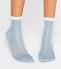 ASOS Glitter Socks With Contrast Tip (