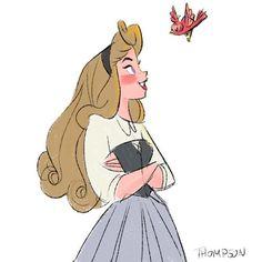 Good morning.  #briarrose #sleepingbeauty #aurora #princess #disney #sthompsonart