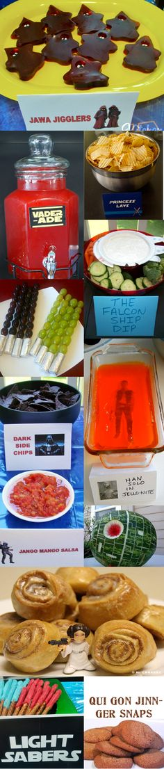 Star Wars Themed Party Foods, I'm using some of these for his party! Too cute