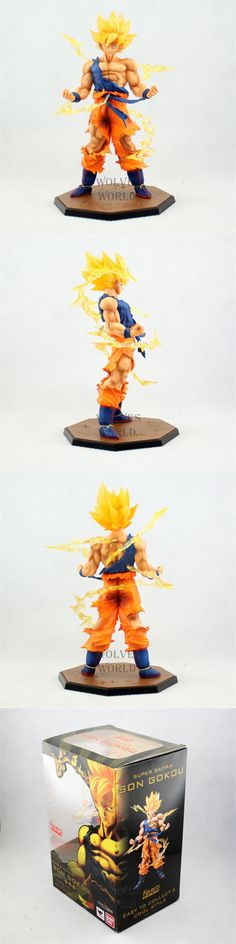 Free shipping Anime Dragon ball z Super Saiyan Goku action toy figures pvc kids toys for boys gifts Model DBFG071