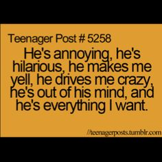 Lol. That's a teenage girls thought process for ya.