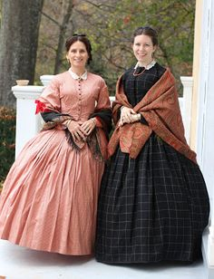 Lovely black wool windowpane w/really wonderful pleating on skirt! Adventures of a Costumer: 1860s Fall Dresses