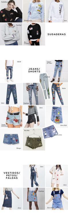 Tendencias Moda: Parches  La vuelta del estilo de los 90 nos trae los accesorios más curiosos para darle un toque muy original y rebelde a nuestras prendas, no te pierdas la mejor shopping list para llenarte de inspiración.  Más en The Creative Jungle