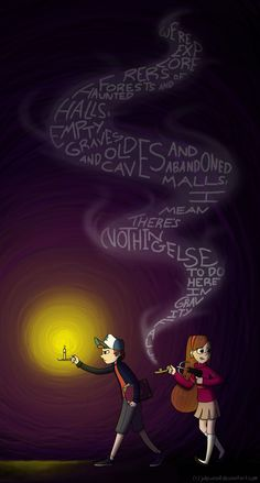 Nothing else to do here in Gravity Falls by JuliPwnsAll.deviantart.com on @deviantART