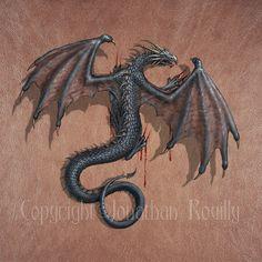 Dragon on my skin by amorphisss.deviantart.com on @deviantART