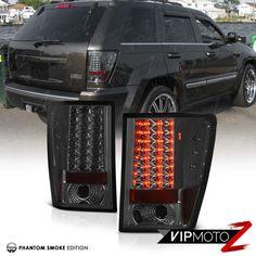 2007-2010 JeeP Grand Cherokee {WK} SRT8 L+R Smoke LED Smd Tail Lamp Brake Lights #VIPMOTOZ