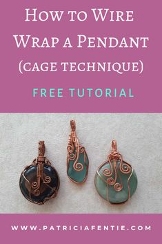 Learn how to make a wire wrapped pendant! Wire wrapping is an easy and creative . - Learn how to make a wire wrapped pendant! Wire wrapping is an easy and creative way to make all sor - Bijoux Wire Wrap, Wire Wrapped Earrings, Bijoux Diy, Wire Wrapped Pendant, Diamond Earrings, Wire Earrings, Wire Wrapped Stones, Wire Pendant, Cross Pendant