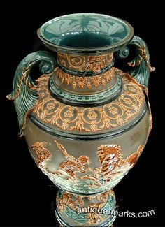 Antiques Collection - Top of Gerbing & Stephan Majolica Vase