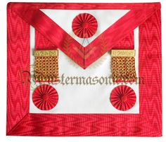 Masonic Master Mason Apron Red Grand Lodge, Custom Metal, Aprons, Frame, Red, Number, Jewels, Accessories, Picture Frame