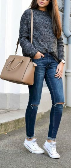 Simple and charming outfits ideas with converse 17