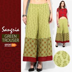 #SHOP this beautifully ethnic and trendy #trouser here--> http://www.jabongworld.com/green-trousers-1529234.html?utm_source=ViralCurryOrganic&utm_medium=Pinterest&utm_campaign=SangriaGreenTrouser-14Jan  AT AN UNBELIEVABLE PRICE!!!