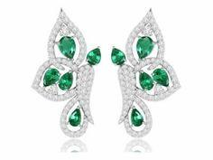 Emerald Necklace, Emerald Jewelry, Diamond Jewelry, Diamond Earrings, Drop Earrings, Butterfly Earrings, Diamond Gemstone, Swarovski Crystals, Jewelery
