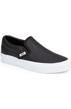 Vans 'Classic' Perforated Slip-On Sneaker (Women) available at #Nordstrom in Peachskin. $59.95