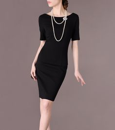 Vintage Black Dress Spring Clothing 2014 New Design by Chieflady
