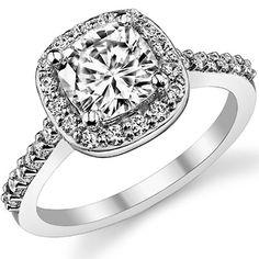 Embrace Cushion Moissanite Engagement Ring