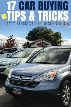 16 Car Buying Tips & Tricks to Outsmart the Dealerships - Whether you are buying your first car or fifth –– you NEED to know these insider tips! Buying Your First Car, Buying New Car, Car Buying Guide, Car Guide, Fuel Efficient Cars, Car Purchase, Car Salesman, Car Hacks, Tips & Tricks