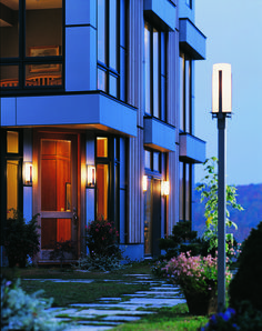 'Forged Vertical Bars Outdoor Post Light by Hubbardton Forge. @2Modern'