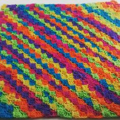 Finished approx 6 hours 2.3 balls of James C Brett party time chunky. Just love 1m square. Approx 350m. Size 7mm hook. #c2c #c2cblanket #crochet #crochetblanket #cornertocorner #cornertocornerblanket #jamescbrett #chunkycrochet#hobbycraft#rainbowcrochet#rainbowyarn by beeknit1