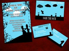 Nintendo Super Mario Bro Wedding Invitation, Save the Date, RSVP, and Thank You Digital File Kit NES Nerd Geek Gaming Gamer