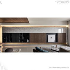 Transzendenz durch Ruhe Innenarchitektur – Bronze A & # Design Award Gewinner … Transcendence by Tranquility Interior Design – Bronze A' Design Award Winner for Interior Space and Exhibition Design Category in 2017 – 2018 – Te-Yu Liu & Hui-Ching Chang Living Tv, Living Room Wall Units, Living Area, Living Room Designs, Apartment Interior, Living Room Interior, Home Living Room, Modern Interior, Home Interior Design
