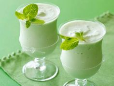 Wow, very Delish! St Patrick's Day Mint Schnapps Shake