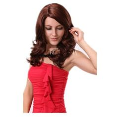 Sexy Long Curly Wavy Winered Wig for Ladies And Women Wig by GOOACTION. $22.99. It's fit for your Parties,Cosplay & Daily Use.. *Package: 1 wig + 1 free wig cap. The size is adjustable,it can fit on most people.you can adjust the hooks inside the cap to the correct size to suit your head.. 100% Top Quality & Brand NEW. 100% Japanese Kanekalon (high quality one) made fiber wigs. Easy to care for and Wahs. Wash with normal shampoo in warm but not hot water. Shake off excess...