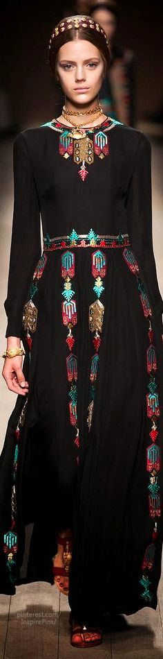 The embroidery. Bohemian Gypsy Style / karen cox. ☮ Spring 2014 Ready-to-Wear Valentino