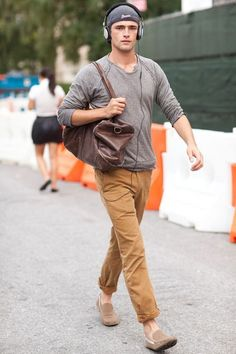 Sean O'Pry men's casual street style