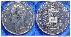 Bolivar venezuelano (1879-2007) (x) 2 bolívares (1989-1990) O:brasão de armas…