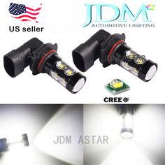 JDM ASTAR 50W LED CREE Xenon White 9006 HB4 Car Daytime Running Fog Light Bulbs #JDMASTAR