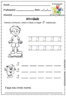 Atividades para Jardim: Vogais e encontros vocálicos Homeschool, Atv, Blog, Language Activities, Preschool Literacy Activities, Teaching Reading, Initials, Writing, Preschool