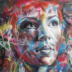 David Walker creates extraordinary spray-painted graffiti artworks of complete strangers.