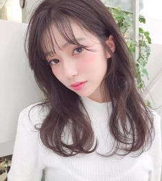 Pin on Hairstyles Medium Hair Styles, Natural Hair Styles, Short Hair Styles, Hair Inspo, Hair Inspiration, Hair Color Images, Girls Cuts, Hair Arrange, Japanese Beauty