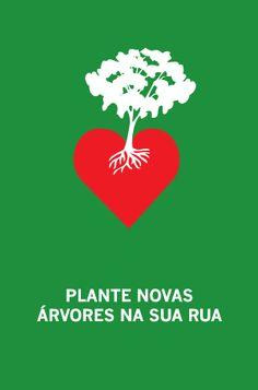 Cartaz: Plante novas árvores na sua rua