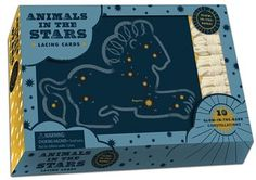 Animals in the Stars Lacing Cards -- Ten Glow-in-the-Dark Constellations. Lace the stars together to create 10 familiar animal constellations -- then, turn out the lights to reveal the glow-in-the-dark animal formed by the stars.