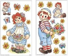 Glitter Graphics Raggedy Ann And Andy Classic Cartoon Characters, Ann Doll, Raggedy Ann And Andy, Glitter Graphics, Wall Decor Stickers, Cute Teddy Bears, Vintage Labels, Vintage Valentines, Cartoon Drawings