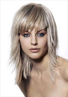 medium long haircuts with Medium Long Haircuts with Bangs for Big Forehead Medium Length Hair With Layers, Medium Hair Cuts, Long Hair Cuts, Medium Hair Styles, Short Hair Styles, Hair Layers, Medium Hairs, Haircut For Thick Hair, Short Cuts