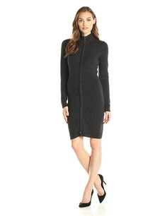 Calvin Klein Women s Long-Sleeve Zip-Front Sweater Dress    Check out this 76e787010