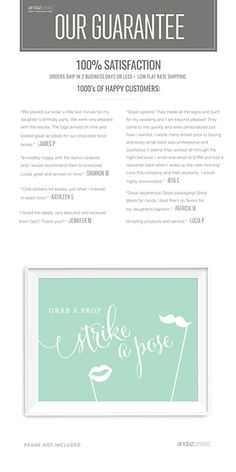 Andaz Press Wedding Party Signs, Mint Green, 8.5x11-inch, Grab a Prop & Strike a Pose Photobooth Sign, 1-Pack