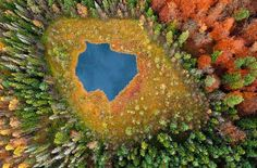 Mirando al mundo con sentimientos: Impresionantes fotos aéreas de lagos de…
