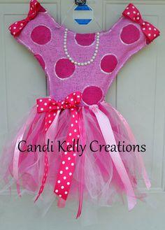 Burlap Ballerina with Tutu Door Hanger by CandisSweetCreations, $40.00