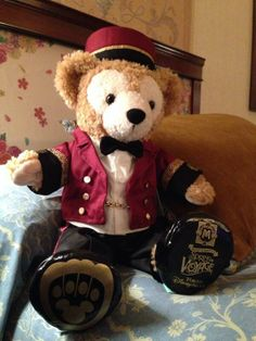 Hotel Bell Hop outfit for Duffy the Disney Bear in Tokyo, Japan