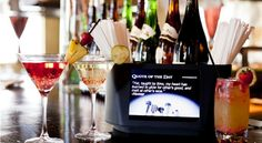 Bar Caddy with Video Display for sponsors and messages