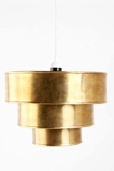 5 Decorating Trends You Can Actually Afford #Refinery29    Urban Outfitters Tiered Pendant Shade