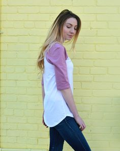 JANEL baseball tee | hittin it out of the park in our favorite spring tee. shop on our site now.