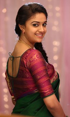 "Beautiiful actress Keerthi suresh saree look from tamil hero Vijay's upcoming movie ""agent bhairava"". Beautiful Girl Photo, Beautiful Girl Indian, Most Beautiful Indian Actress, Beautiful Actresses, Beautiful Smile, India Beauty, Asian Beauty, Saree Look, Thing 1"