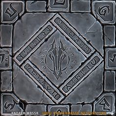 ArtStation - Darksiders II Inspired Tilable Floor Texture V1 (WIP), Andrea Massa