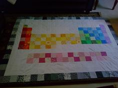 Elemental periodic table hawaiian quilts and craft periodic table of elements quilt urtaz Gallery